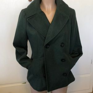 Merona Jackets & Coats - Merona green 64% wool  women's Jacket size M